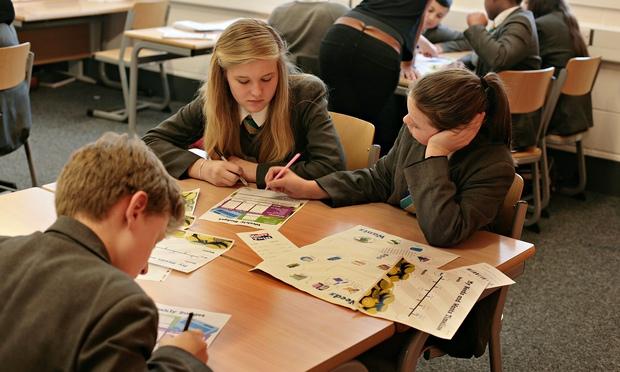 A workshop on financial education at Heartlands High School, north London