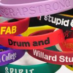 Silicone and rubber wristbands