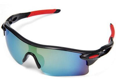 OULAIOU UV400 Sports Sun Glasses Explosionproof Eyes Protector for Outdoors Use - GRAYF