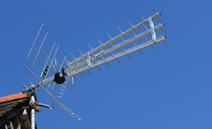Five Television Antennas Used to Receive TV Signals