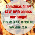 SAVE 10% ON VORREI'S CHRISTMAS RANGE BEFORE 30 NOVEMBER!