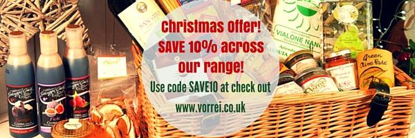 SAVE 10% ON VORREI'S CHRISTMAS RANGE BEFORE 30 NOVEMBER!