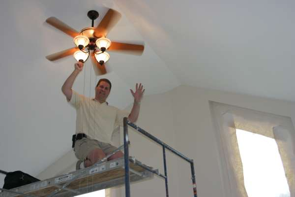Installing Ceiling Fans in Our House
