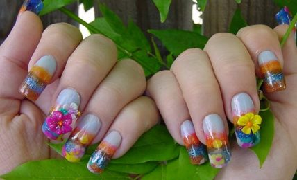 Flower Type Nail Designs Ideas