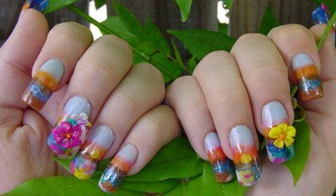 Flower Type Nail Designs Ideas