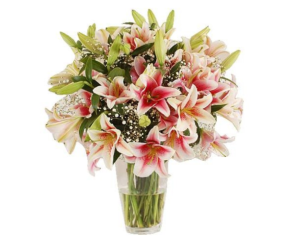 British-Pink-Lily-bouquet