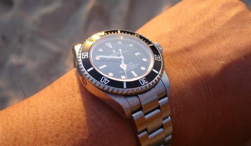 Rolex on a wrist after a Rolex repair