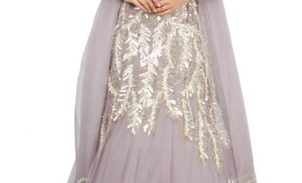 Lilac Embroidered Lehenga Set